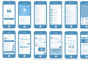 android app template mobile app wireframe kits