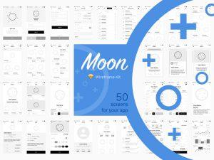 android app template moon wireframe kit frigo