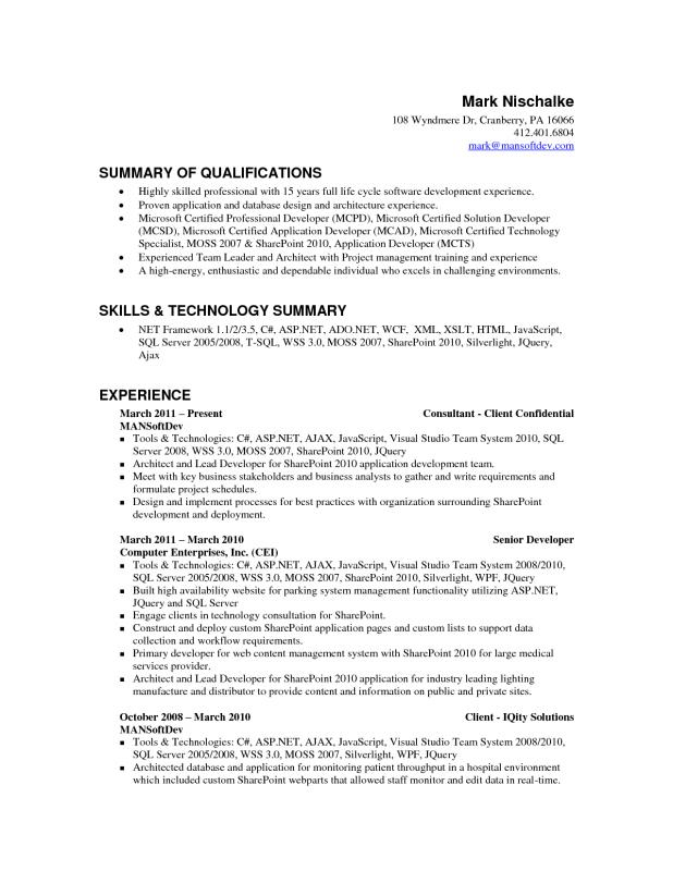 Android Developer Resume | Template Business