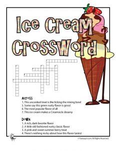 animal alphabet letters ice cream crossword game