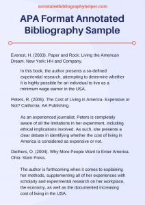 annotated bibliography template apa apa format annotated bibliography sample