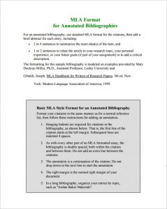 annotated bibliography template mla annotated bibliography template