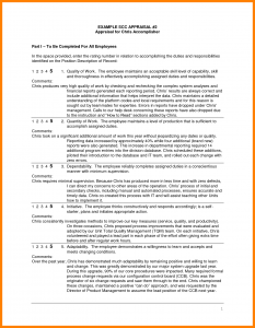 annual performance review employee self evaluation examples annual performance review employee self evaluation examples