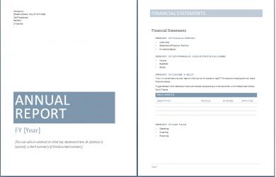 annual report template sample annual report templates