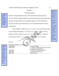 apa appendix format apa sample paper