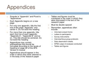 apa appendix format apa version quick guide