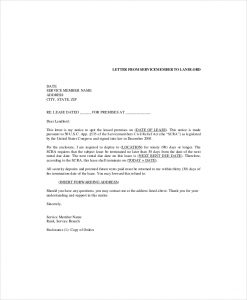 apartment lease termination letter sample lease letter to landlord commercial