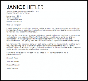 apartment lease termination letter therapy termination letter