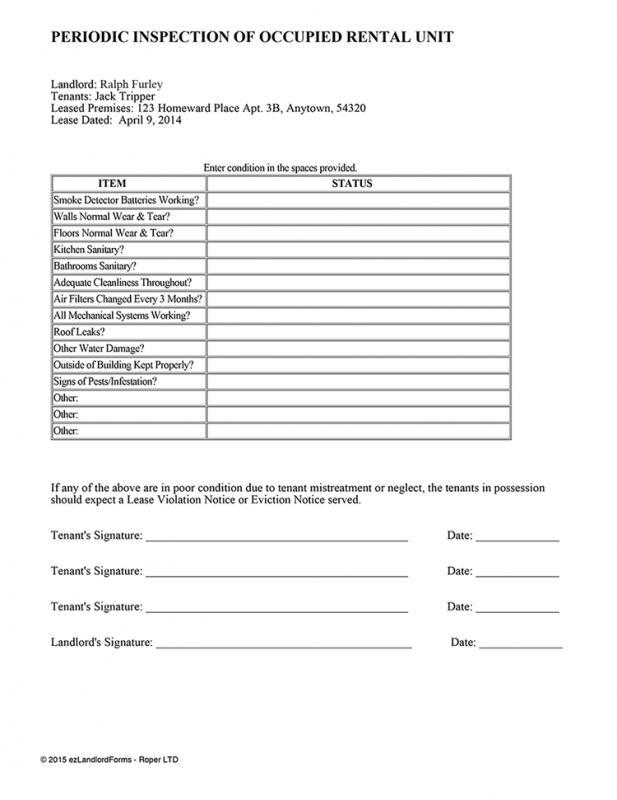 apartment maintenance checklist template