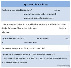 apartment rental agreement apartment rental lease form