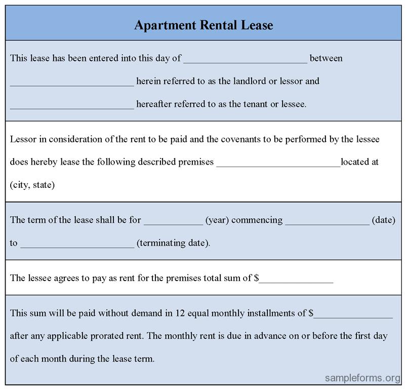 apartment rental agreement