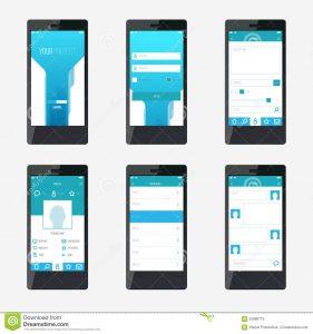 app design template template mobile application interface design website app