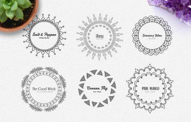app designs templates mandala logos pack