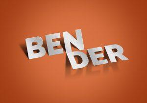 app mockup psd bender text effect psd