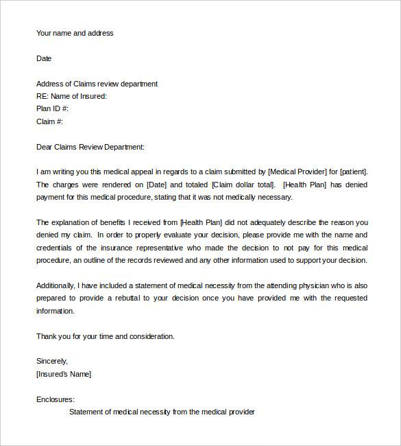 appeal letter format