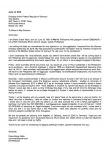 appeal letter format sample appeal letter for schengen visa refusal or denial x