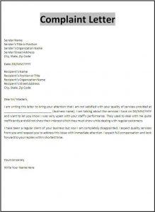 appeal letter template email letter complaint resume for teaching job fresher complaint letter template