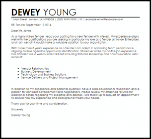 appeal letter template tender