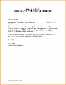 applicant letter example thank you for applying thank you for applying letter