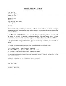 application letter examples application letter