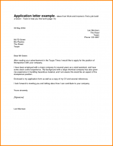 application letter examples job application letter example