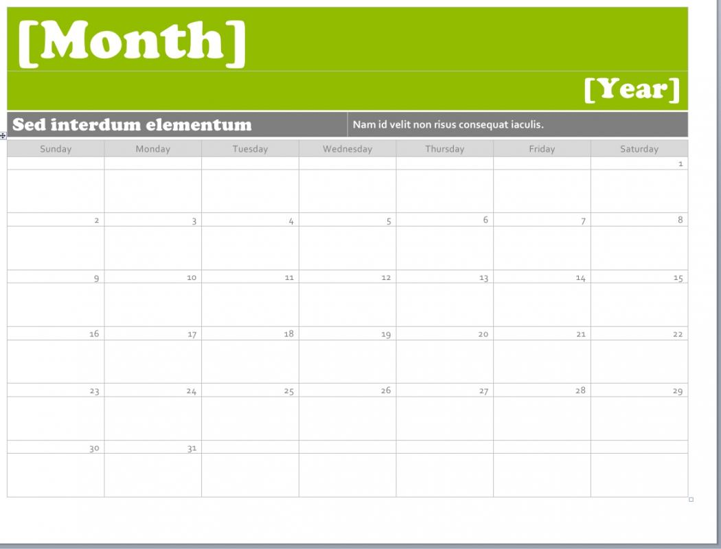 appointment calendar templates