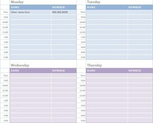 appointment calendar templates weekly appointment calendar weekly appointment calendar template template