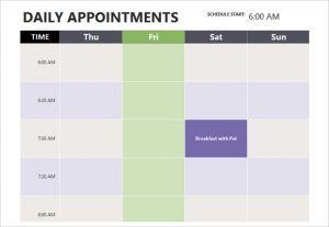 appointment scheduling template microsoft daily appointment calendar