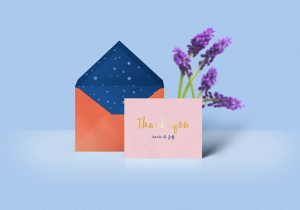 apps design templates thank you card mockup