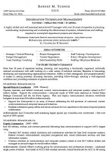 areas of expertise resume information technology management resume