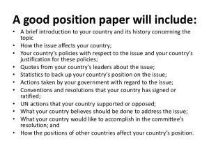 argumentative essay outline template position paper