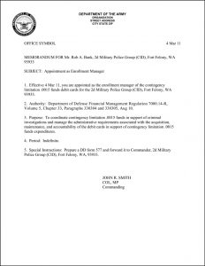 army memorandum for record best images of army formal memorandum example sample army in memorandum for record army template