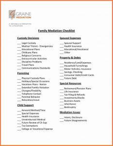 army memorandum for record divorce settlement checklist fam med checklist