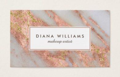 artist business card sparkling pink marble abstract makeup artist business card rcdeeefbaeeacabe kenrk byvr