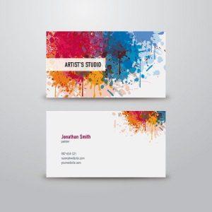 artist business cards 00b5a86cfe91e62c789d19a3acb812da free business card templates free business cards