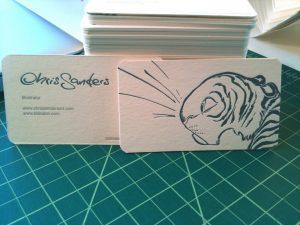 artist business cards chris sanders business cards