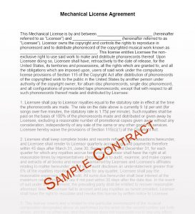 artist management contract volume contract sample