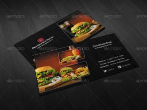 artist website templates creative restaurant business card psd template