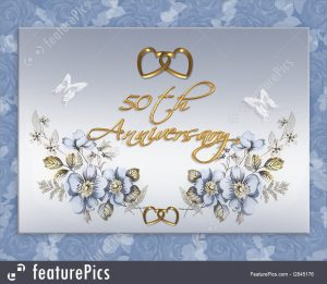 artistic business cards th wedding anniversary stock illustration