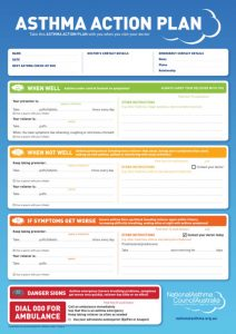 asthma action plan form nac asthma action plan web colour