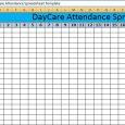 attendance tracker excel daycare attendance spreadsheet template x