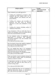 audit report template capex audit checklist