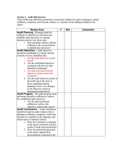 audit report template quality assurance review check list