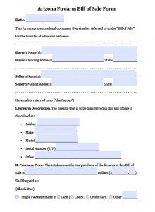 auto bill of sale pdf arizona firearm bill of sale