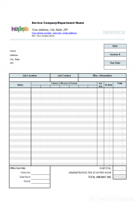 auto repair receipt invoice template for word