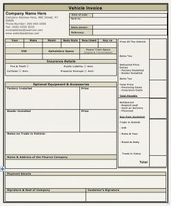 auto repair receipt vehicle invoice template vehicle sales invoice template kkresn