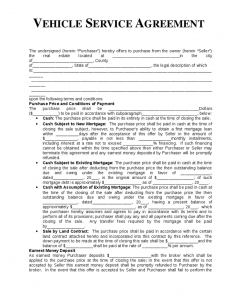 automotive bill of sale form vehicle service agreement template