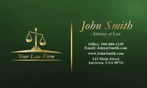 automotive business card legal b green large