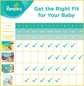 average baby weight chart pampers size chart