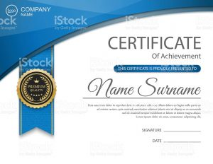 award ribbon template vector certificate template vector id